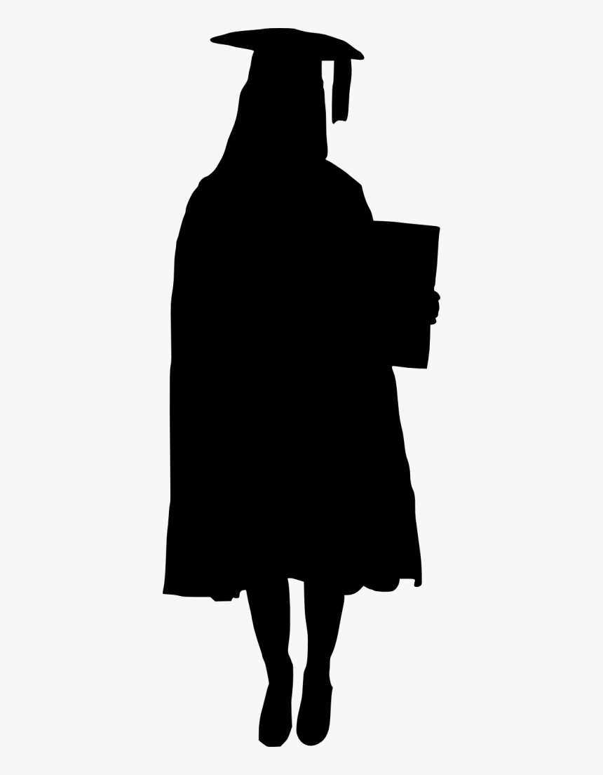 Girl Graduate Silhouette Png, Transparent Png, Free Download