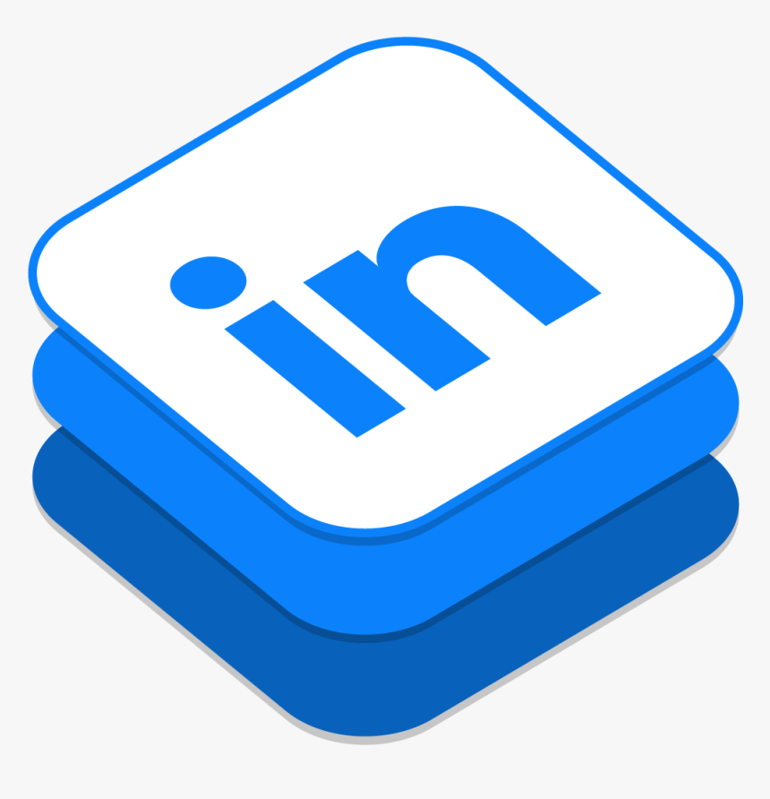 Icono Facebook Ios 8 Clipart , Png Download - Isometric Linkedin Icon, Transparent Png, Free Download