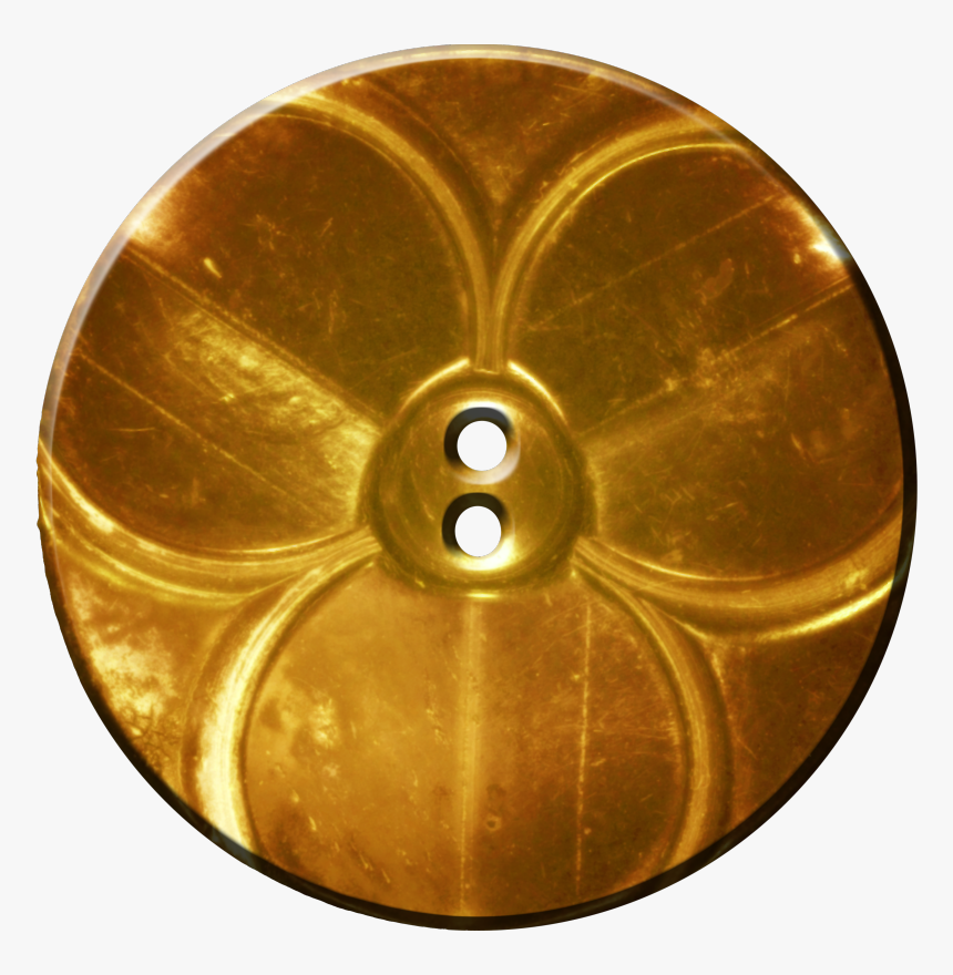 Trefoil Button, Gold - Transparent Background Shirt Buttons Png, Png Download, Free Download