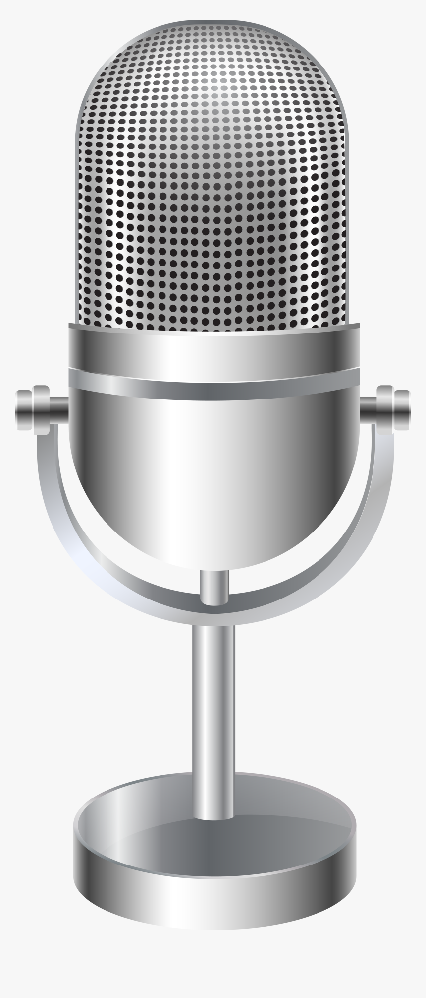 View Full Size - Clip Art And Microphone Stand, HD Png Download, Free Download