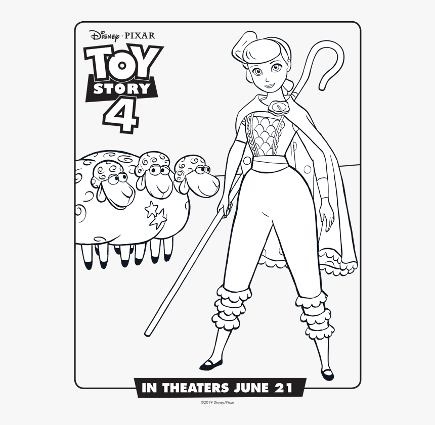 Toy Story 4 Bo Peep Free Printable Coloring Pages Bo Peep Toy
