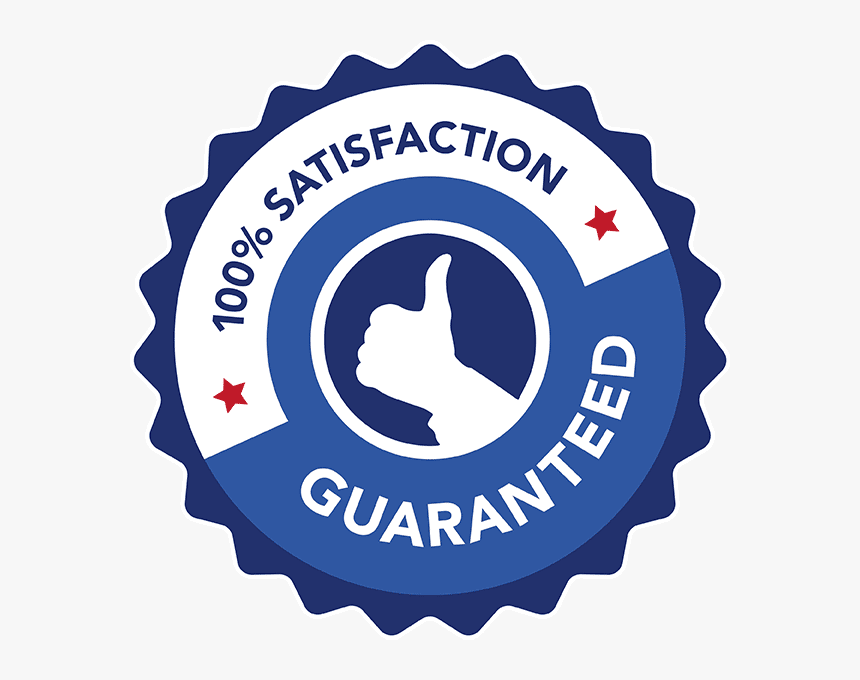 "Americlean""s 100% Satisfaction Guarantee Logo - Money Back Guarantee, HD  Png Download - kindpng"
