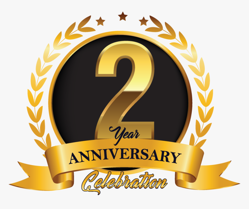 2nd Year Anniversary Graphic Leading Photograph 2nd Anniversary Logo Png Transparent Png Kindpng,Types Of Hamsters Breed