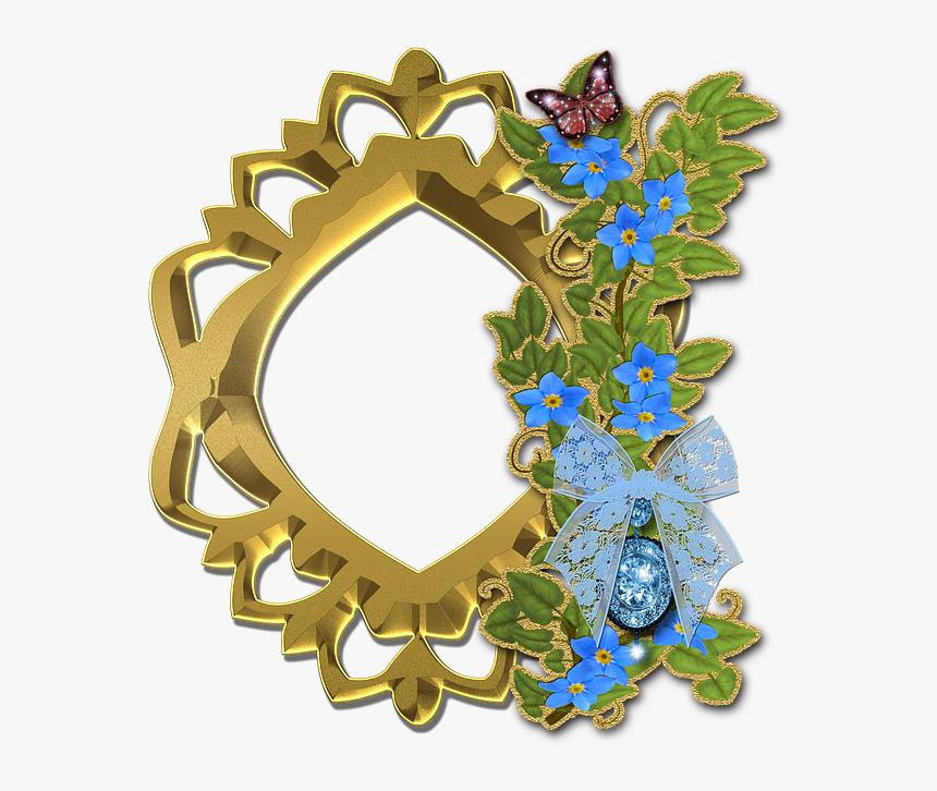 Photo, Frame, Scrapbook, Flowers, List, Nature, Gold - Flower List Frame Png, Transparent Png, Free Download