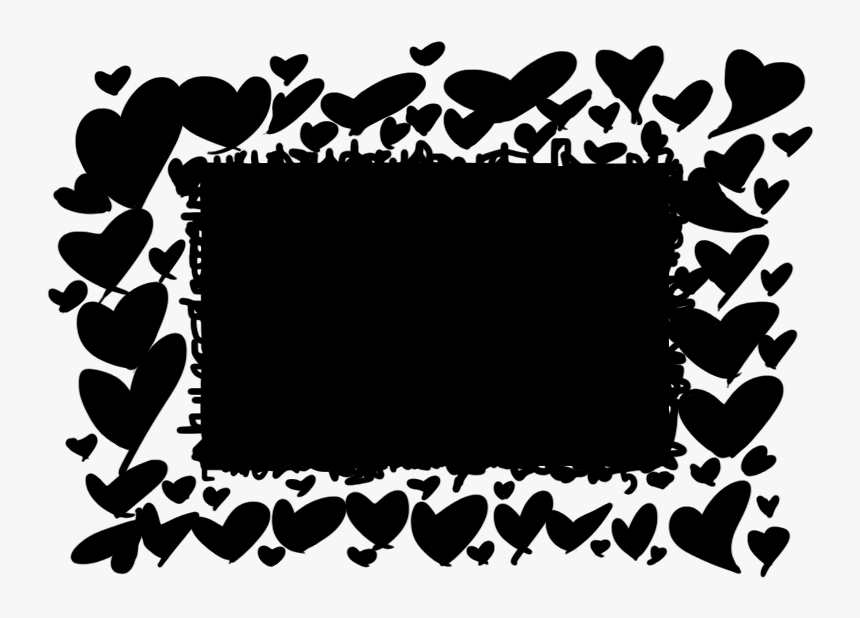 Scribbled Black Hearts Imvu Div Layout - Picture Frame, HD Png Download, Free Download