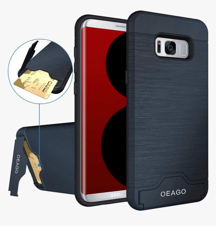 Samsung S8 Case With Card Holder, HD Png Download, Free Download