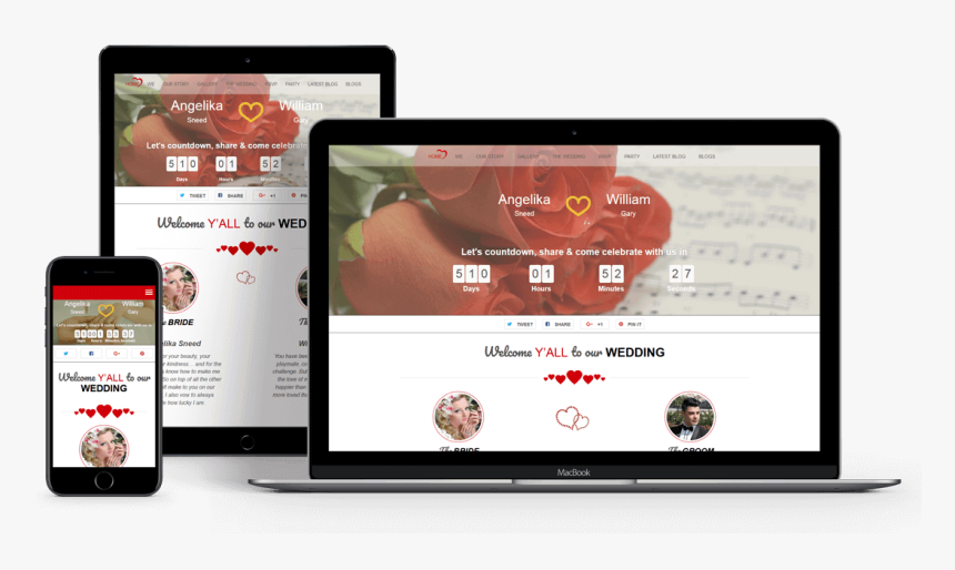 Twogether Wedding Wordpress Theme - Wordpress Themes Premium, HD Png Download, Free Download