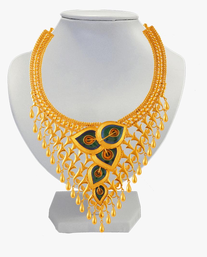 22k Gold Necklace Set Gold Set Design 2019 Png Transparent Png