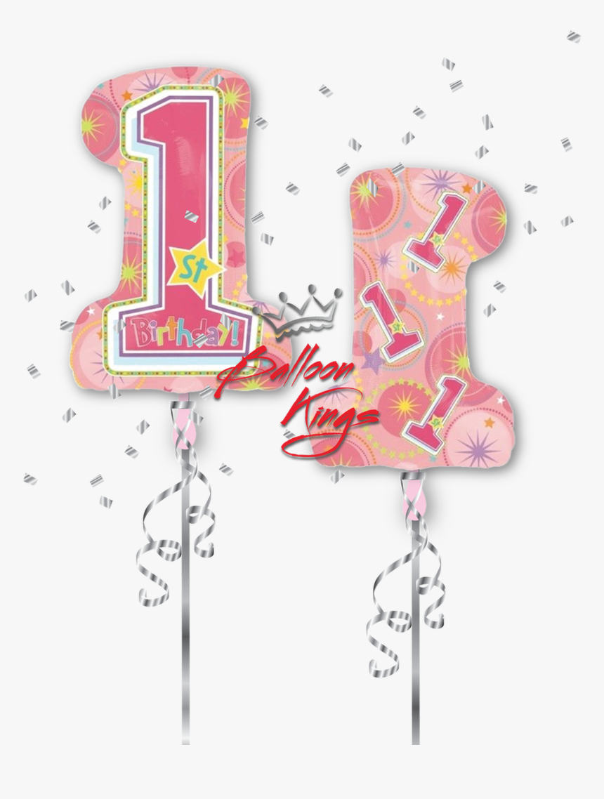 1st Birthday Number Shape - Drawing, HD Png Download, Free Download