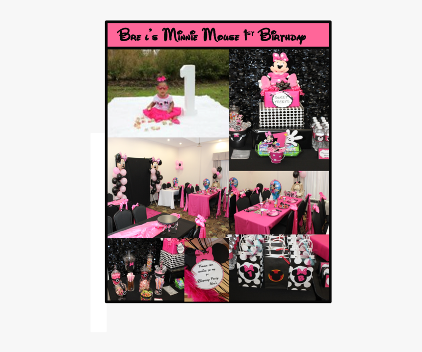 Theme Minnie Mouse 1st Birthday Party Ideas Hd Png Download Kindpng