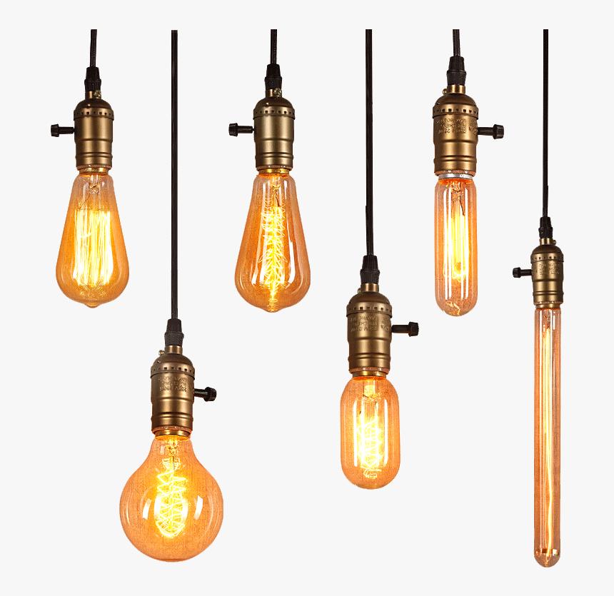 Light Edison Lighting Bulb Png Free Photo - Edison Light Bulb Png, Transparent Png, Free Download
