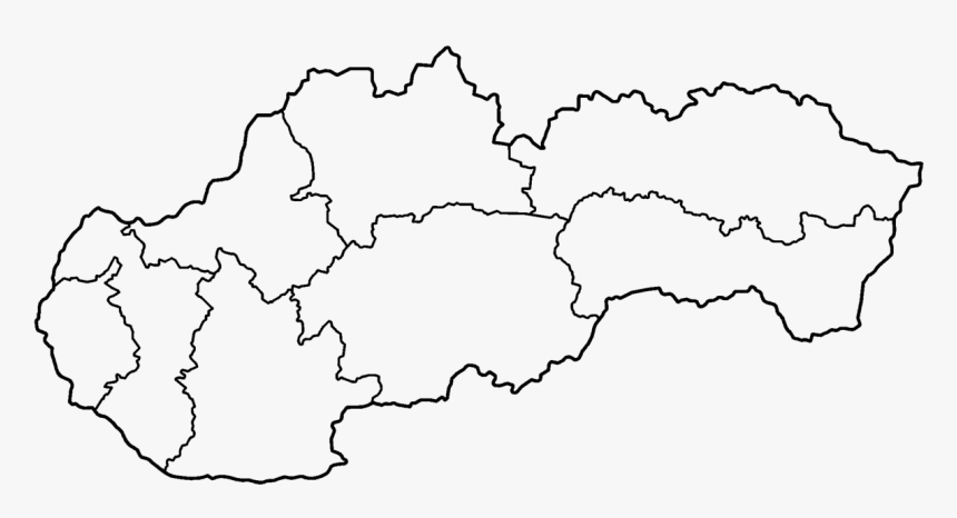 Slovakia Regions Blank - Blank Map Of Slovakia, HD Png Download, Free Download