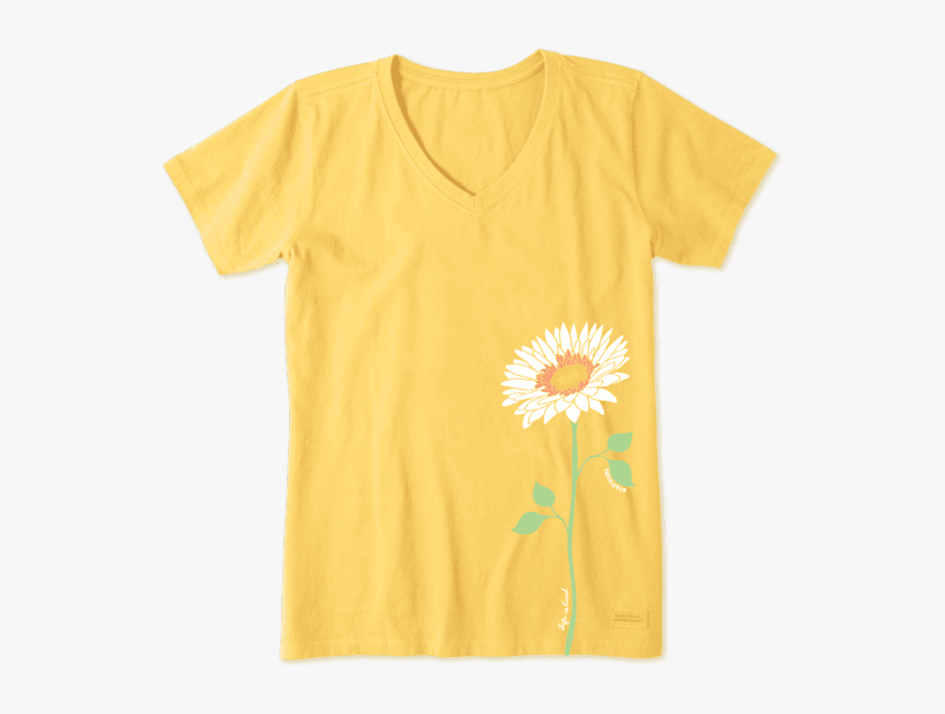 "Women""s Namaste Daisy Crusher Vee - T-shirt, HD Png Download, Free Download"
