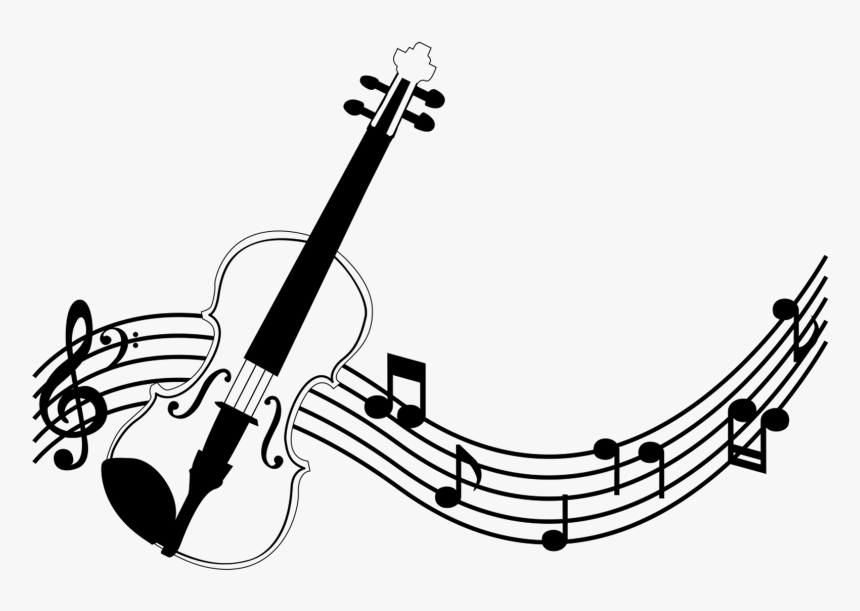 Colourful Music Notes Png For Kids - Violino Desenho Png, Transparent Png, Free Download