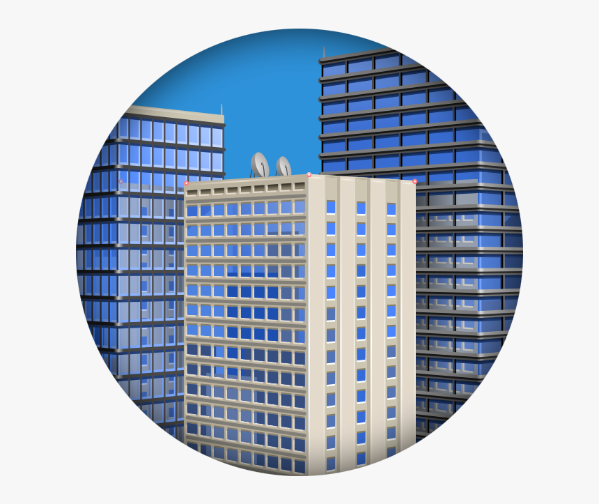 Building - Vector Office Building Icon Png, Transparent Png, Free Download