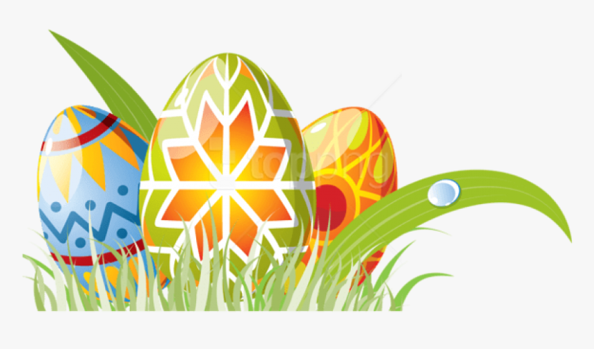 Free Png Download Easter Eggs With Grass Decoration - Easter Eggs In Grass Png, Transparent Png, Free Download