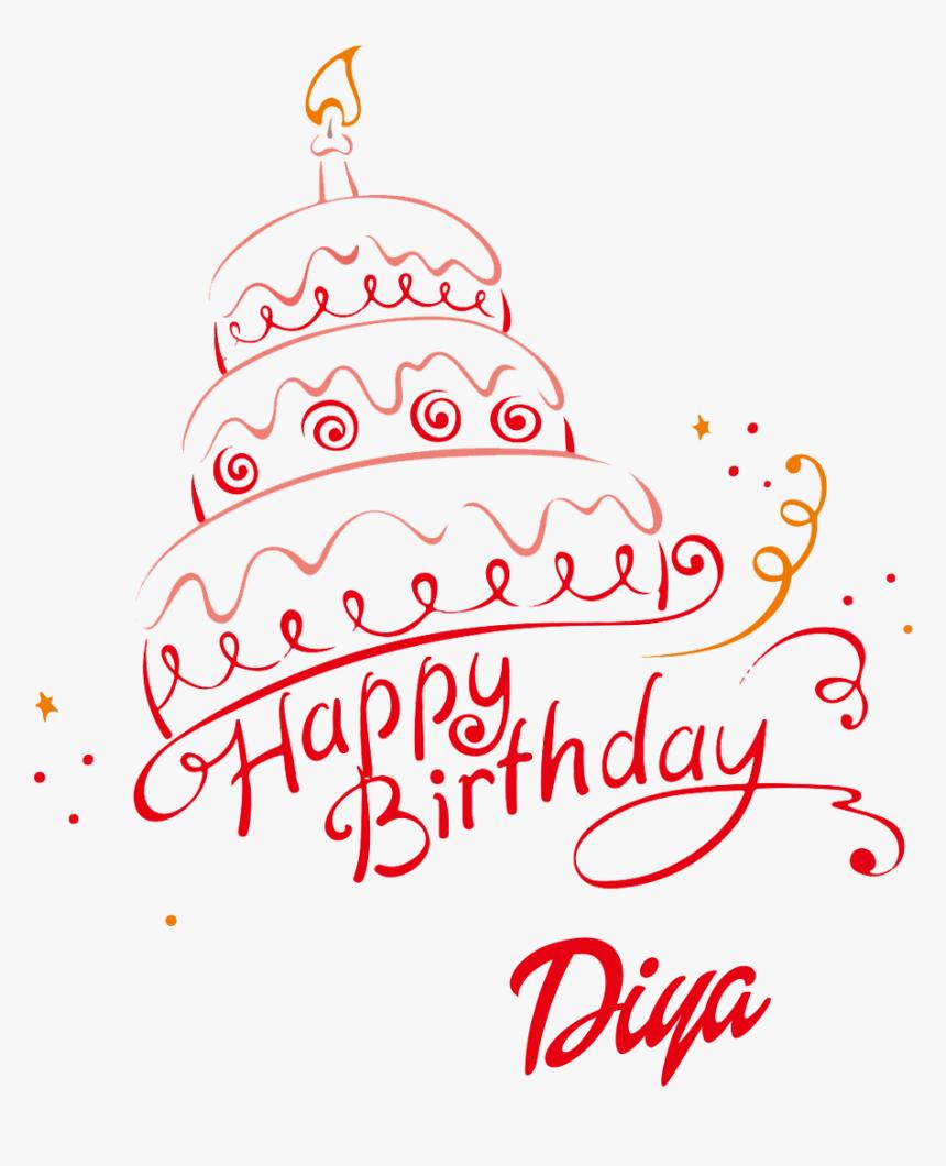 Diya 3d Letter Png Name - Name Happy Birthday Ram, Transparent Png, Free Download