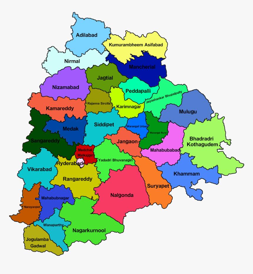 31 District Telangana Map, HD Png Download, Free Download