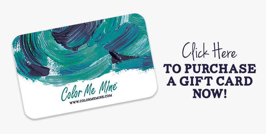 Card - Color Me Mine Gift Card, HD Png Download, Free Download