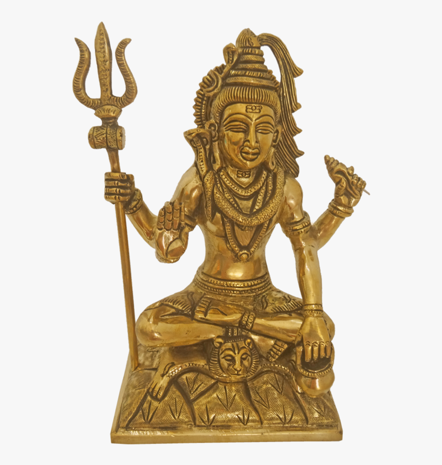 Brass Lord Shiva Lingam With Sulayutham Statue, 4 X - Shiva Lingam, HD Png Download, Free Download