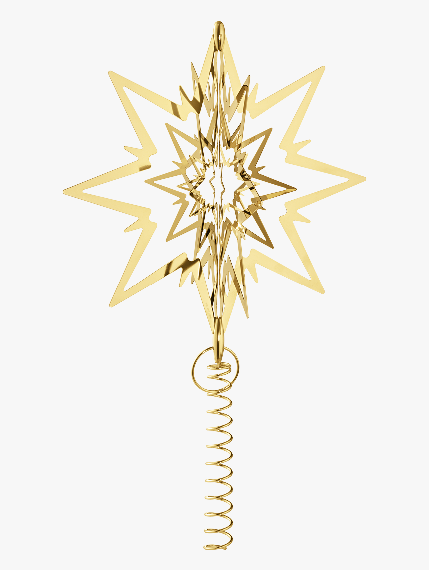 Star For The Christmas Tree, Large, Gold Plated - Georg Jensen Star Tree Topper, HD Png Download, Free Download