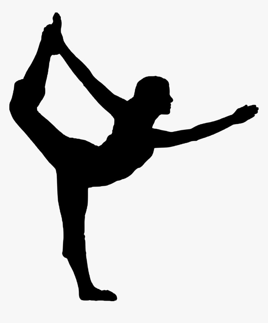Yoga Vriksasana Silhouette Exercise - Yoga Poses Black And White