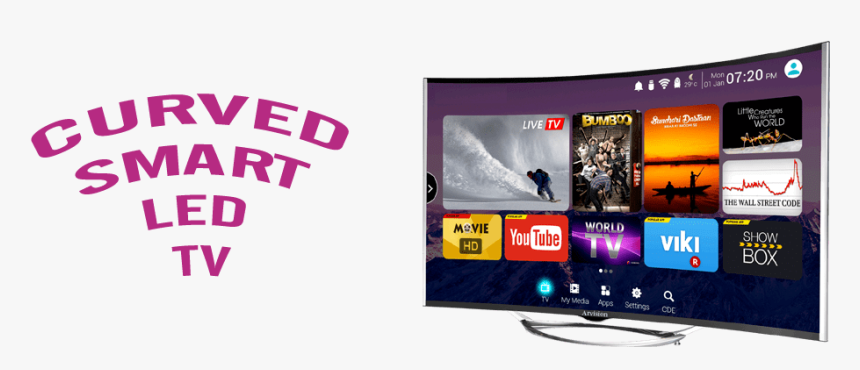 Curved Led Tv - Hisense Curved Tv 55 Inch, HD Png Download, Free Download