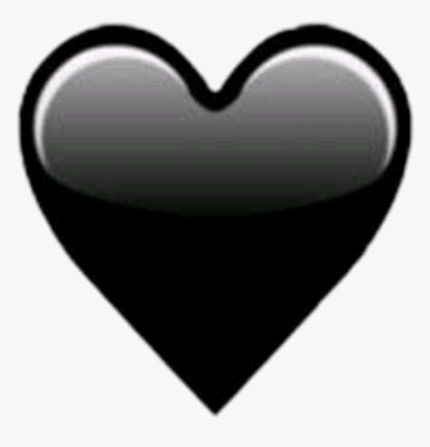 Black Heart Emoji Whatsapp , Png Download - Black Heart Emoji Whatsapp, Transparent Png, Free Download