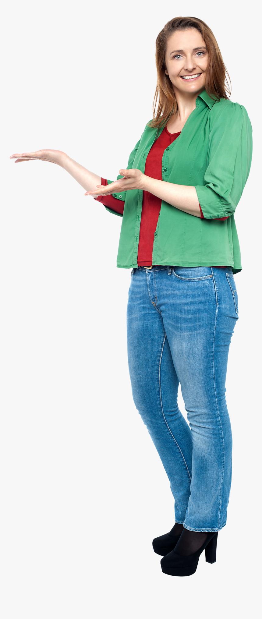 Women Pointing Left Png Image - Desimlocker Lg, Transparent Png, Free Download