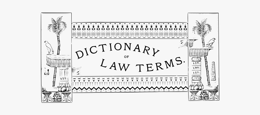 Dictionary Of Law Terms Label Vector Image - Line Art, HD Png Download, Free Download
