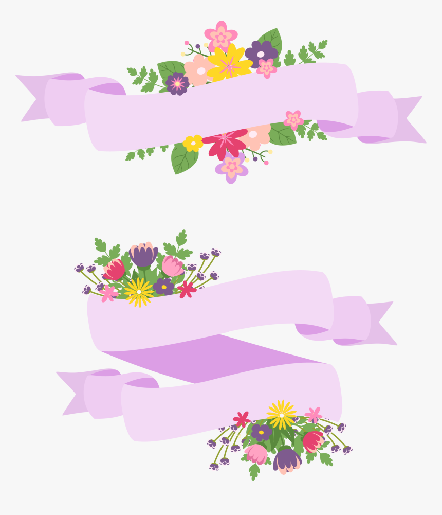 Hand Painted Cartoon Handpainted - Purple Flower Label Png, Transparent Png, Free Download