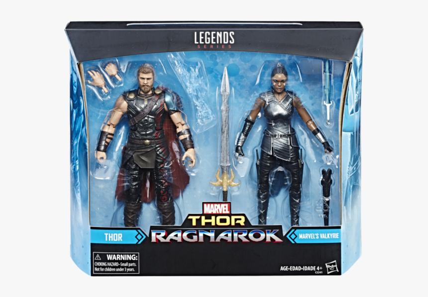 Marvel Legends Thor Ragnarok Valkyrie Two Pack Packaged - Marvel Legends Thor Ragnarok Valkyrie, HD Png Download, Free Download