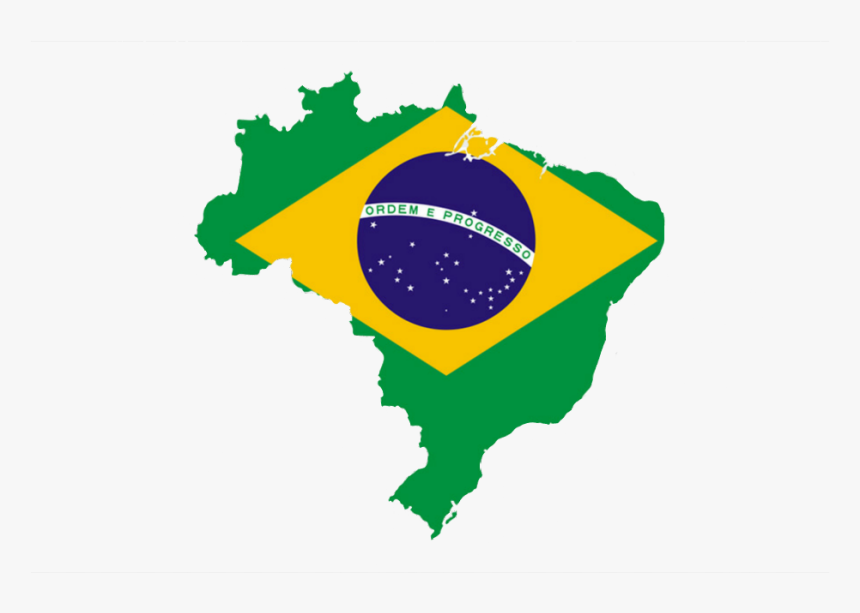 #brasil #bandeira #mapa #bandeiradobrasil - My Country Is Brazil, HD Png Download, Free Download