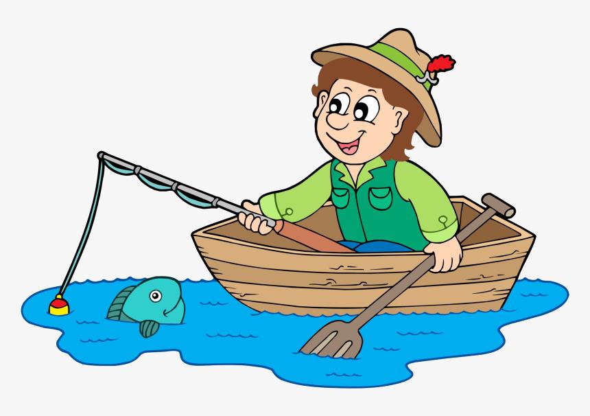 Fishing Clip Fisherman - Fisherman Clipart, HD Png Download, Free Download