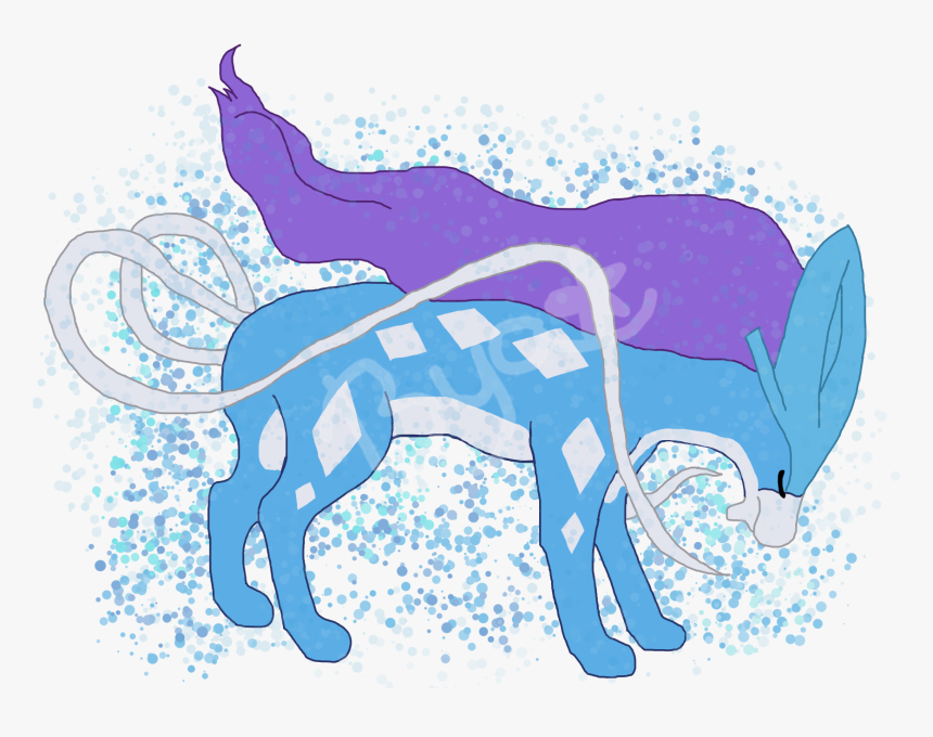 Suicune - Cartoon, HD Png Download, Free Download