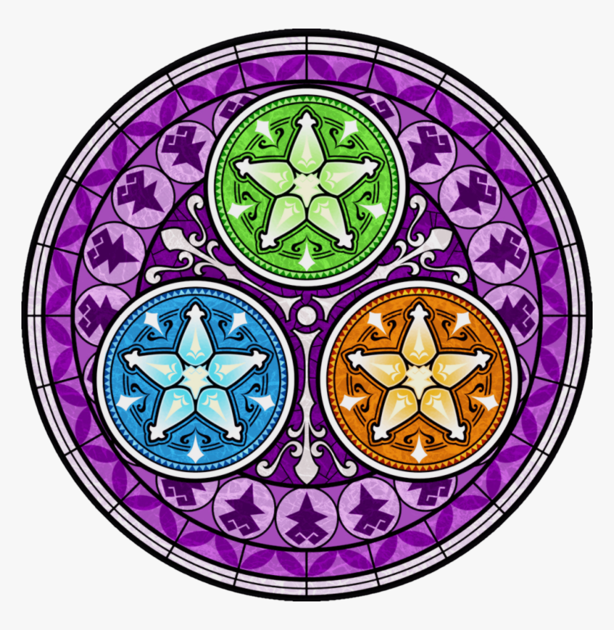 How To Make Kingdom Hearts Stained Glass Art - Kingdom Hearts Glass Art, HD Png Download, Free Download