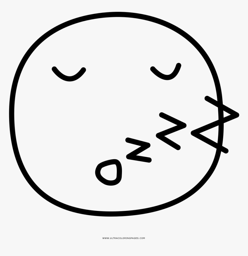 Sleep Coloring Page - Emoticon Che Dorme Da Colorare, HD Png Download, Free Download