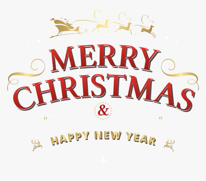 Merry Christmas And Happy New Year Png, Transparent Png, Free Download