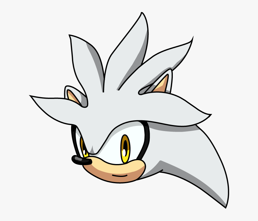 Draw Silver The Hedgehog Head Png Download Draw Silver The