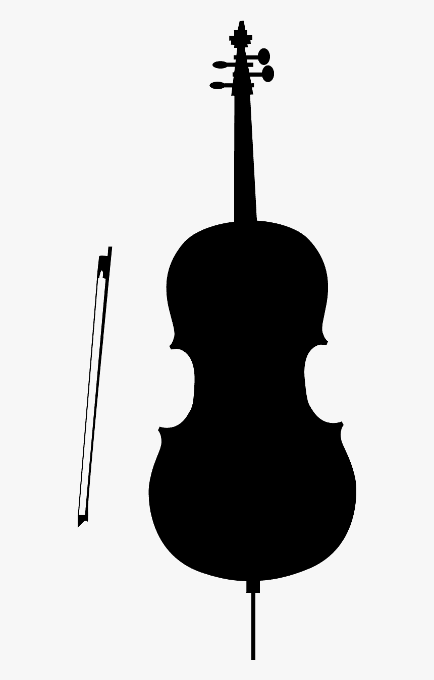 Silhouette Cello Png, Transparent Png, Free Download
