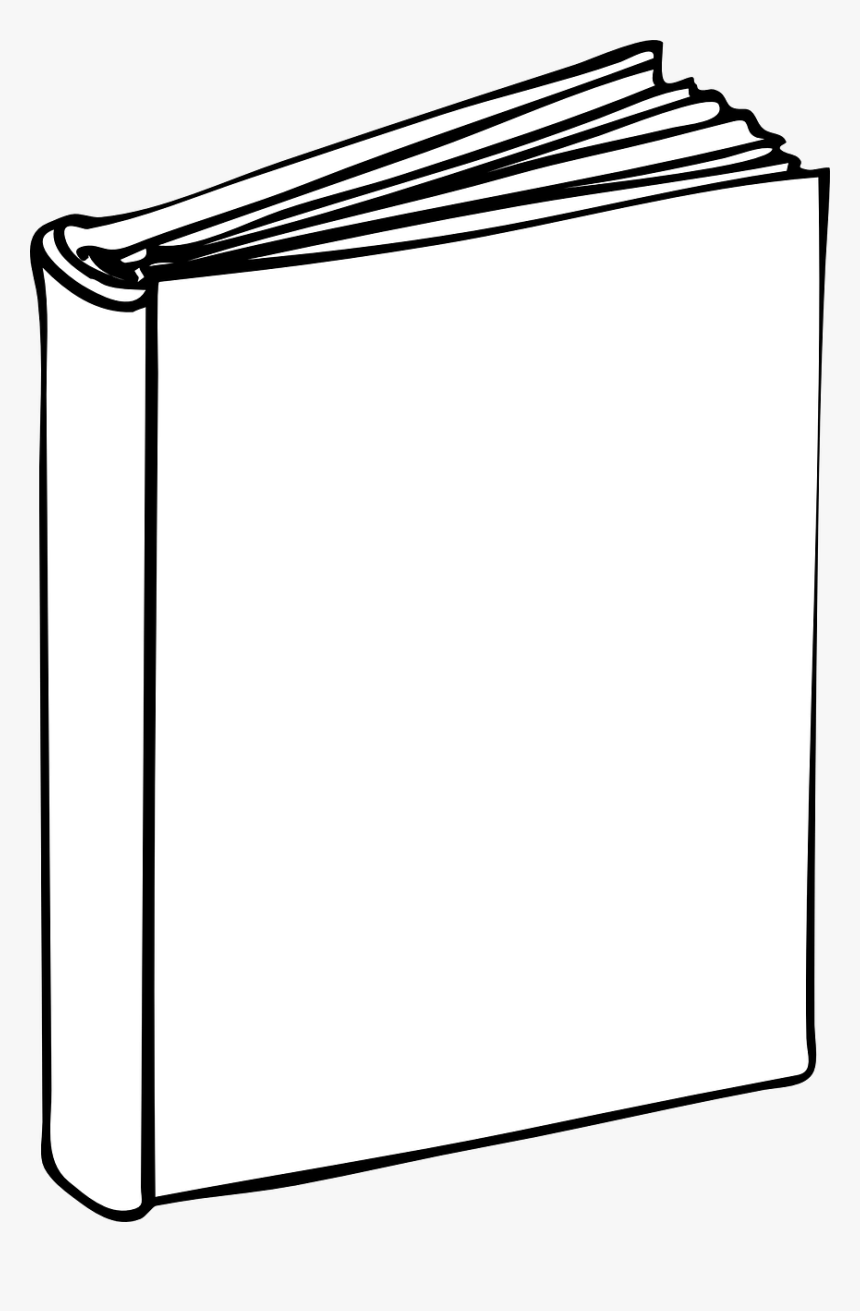 Cartoon Book With Blank Cover - Printable Blank Book Cover Template, HD Png Download, Free Download