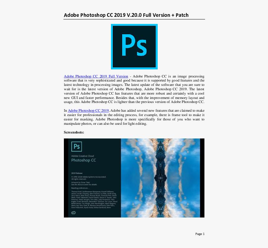 Adobe Photoshop Png Download Adobe Photoshop Transparent Png