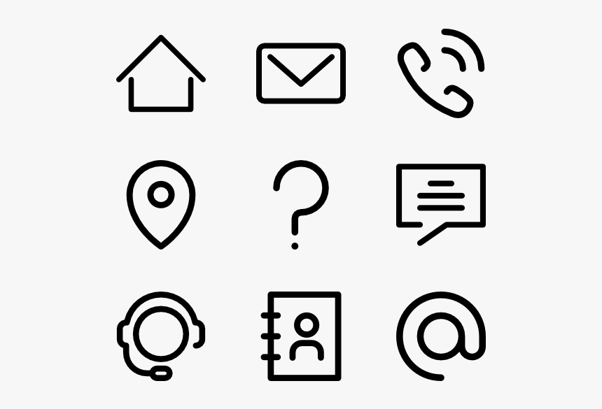 Contact Icons For Resume Png Transparent Png Kindpng