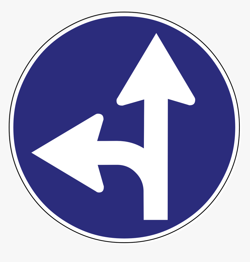 Road Sign Arrows Png, Transparent Png, Free Download