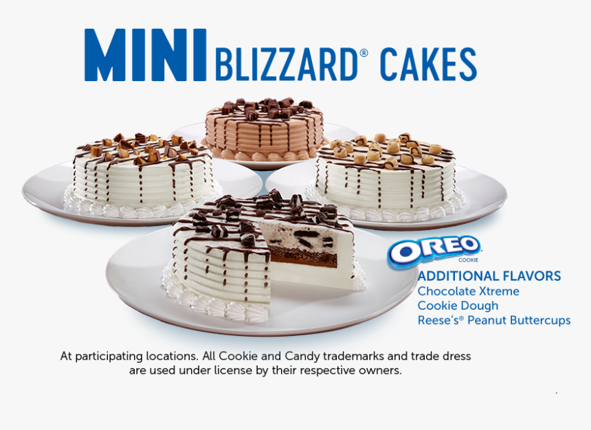 Mini Blizzard® Cakes - Oreo, HD Png Download, Free Download