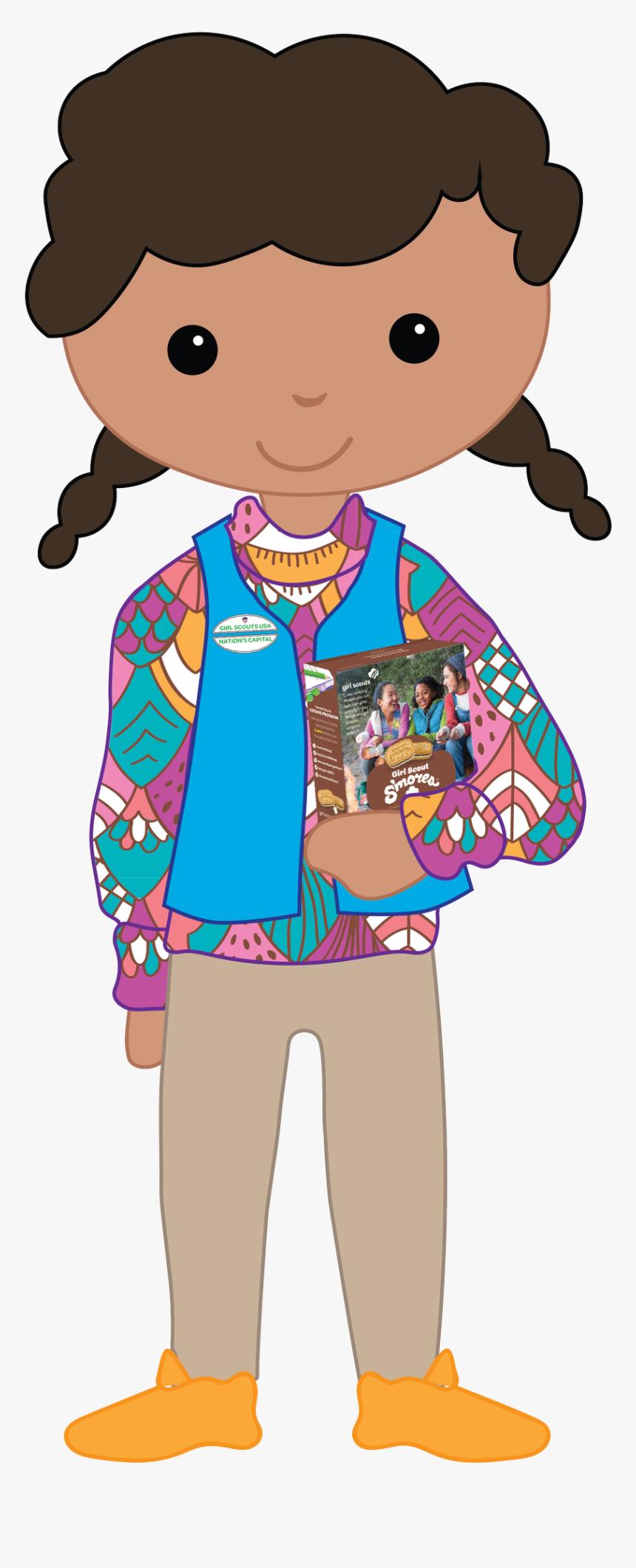 Girl Scout Girl Transparent, HD Png Download, Free Download