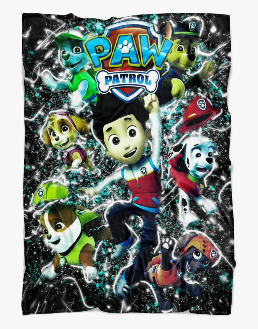 Paw Patrol Fleece Blanket Frozen Glory Black Blanket - Cartoon, HD Png Download, Free Download