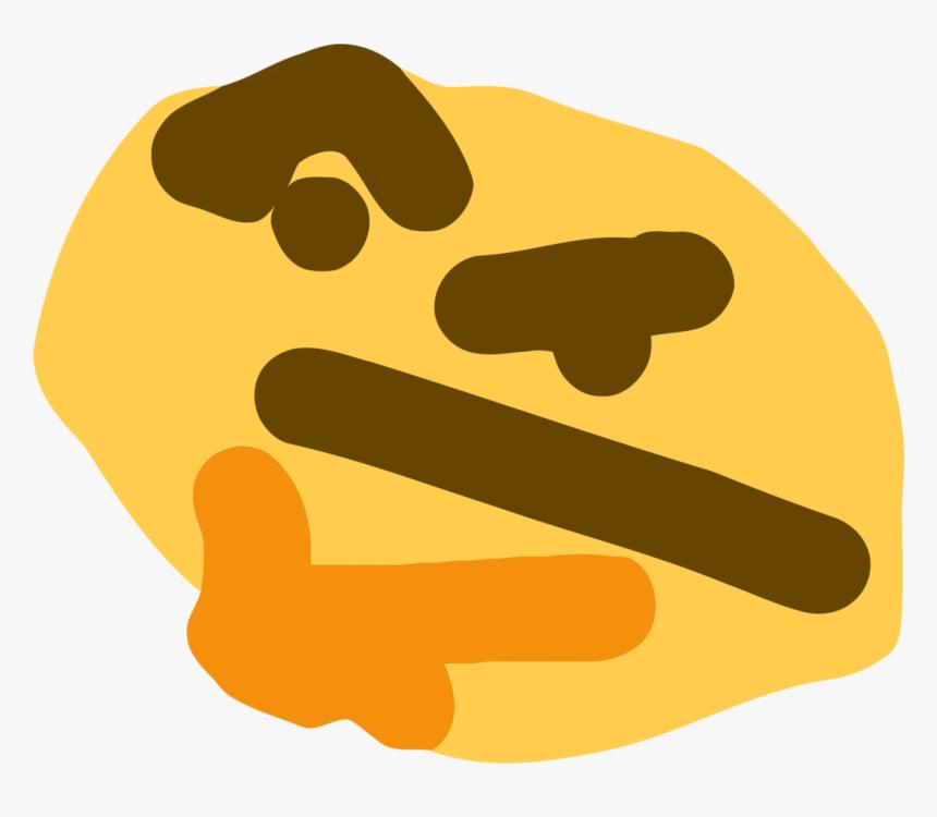 Index Of /images/thumb/9/9b/thonk - Thinking Emoji Meme, HD Png Download, Free Download