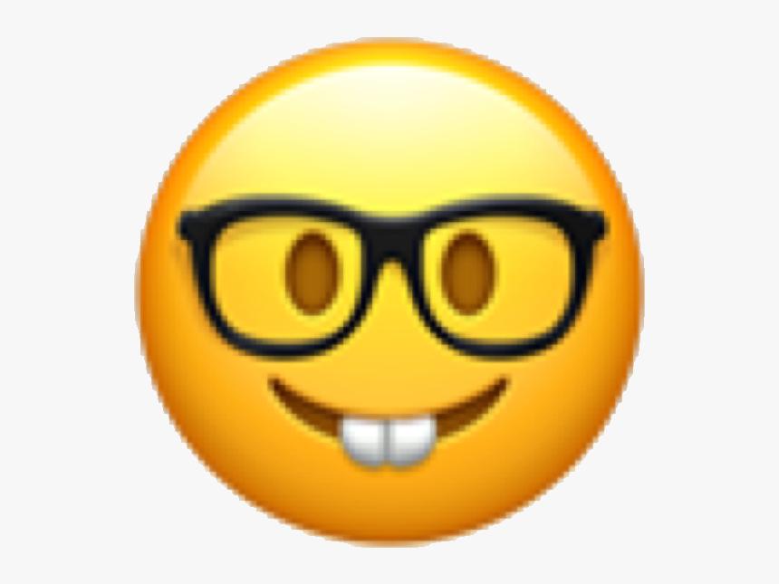#emoji #emojicon #emote #face #emojiface #nerd #nerdy - Emoji Faces Nerd, HD Png Download, Free Download