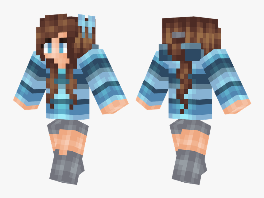 Minecraft Skin Download Girl Blue, HD Png Download, Free Download